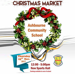 Saraden Designs @ Ashbourne Communiy School Christmas Market - November 23rd