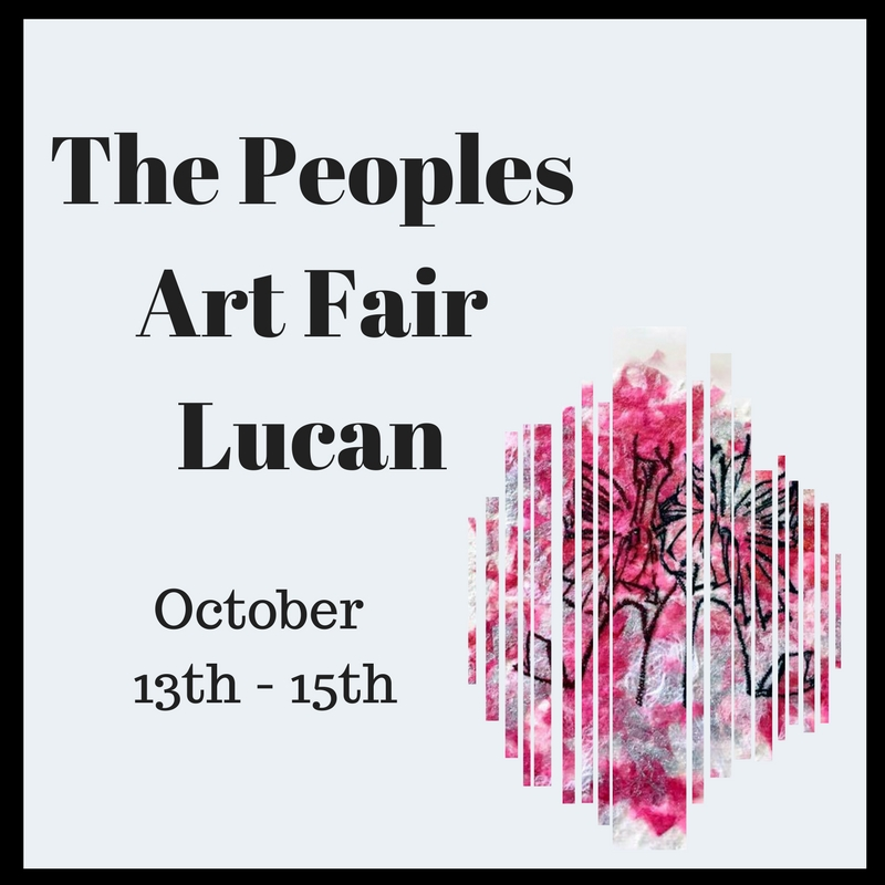 Saraden Designs @ Peoples Art Fair Lucan– October 13th - 15th