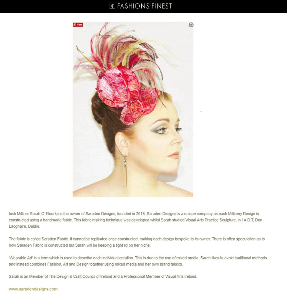 Saraden Designs Bio - Fashions Finest
