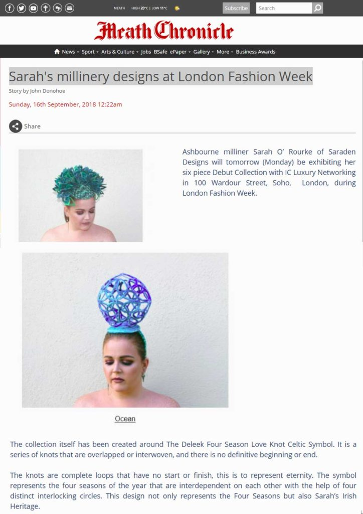 Meath Chronicle London Fashion Week 1