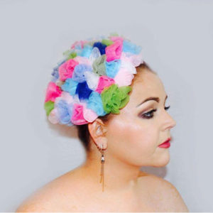 Bouquet is a bespoke millinery piece from Saraden Designs. It is a handmade piece. Sarah is an Irish Milliner who is proud of her slow fashion brand.