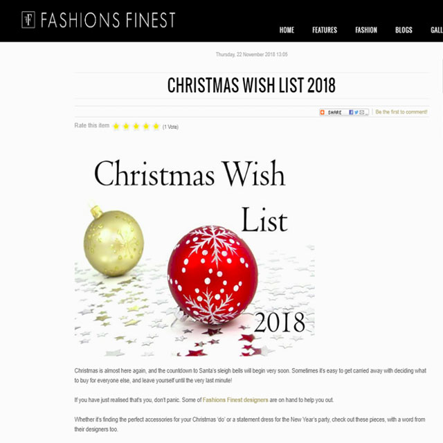 Fashions Finest - Christmas Wish List