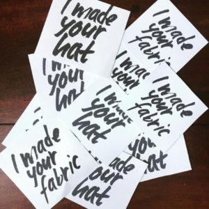 Saraden Designs - I Made You Fabric - I Made Your Hat