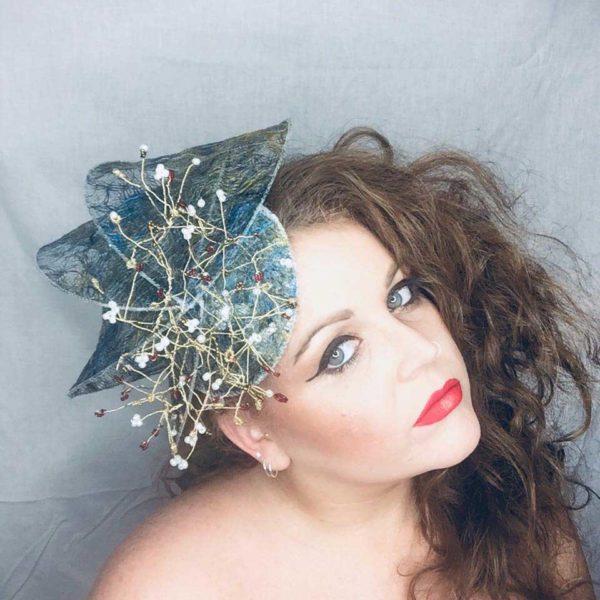 Snow White - Millinery - Saraden Designs - Occasion Wear