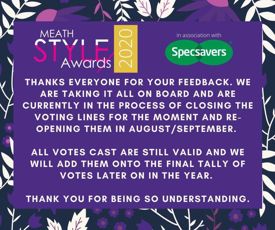 Voting Postponed - The Meath Style Awards 2020