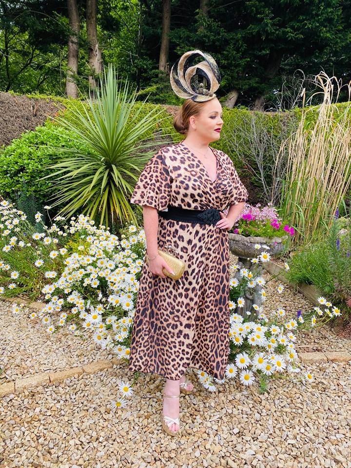 Navan Race Course Virtual Summer Ladies Day - Award winning milliner Sarah O' Rourke Wearing her own Saraden Designs piece