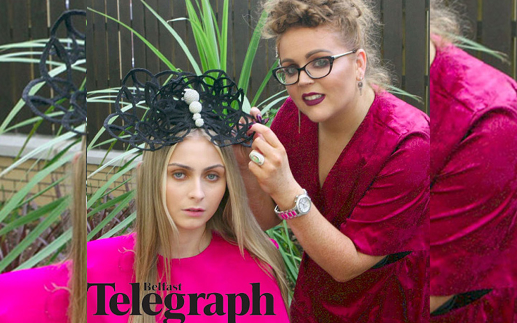 Press Publications, Belfast fashion Week Launch , Belfast telegraph, Panama Cafe, Showcasing Designer, Saraden Designs Irish Milliner, bloggers, Design blog