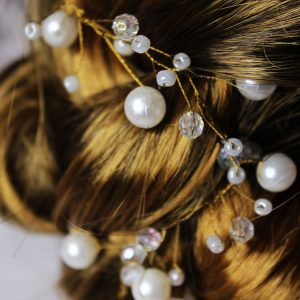Fallon Hair Vine, wedding design, Saraden Designs Millinery, handmade Irish designer
