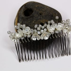 Elise Hair Comb, wedding design, Saraden Designs Millinery, handmade Irish designer