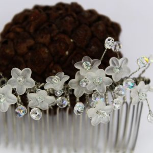 Nova Hair Comb, wedding design, Saraden Designs Millinery, handmade Irish designer