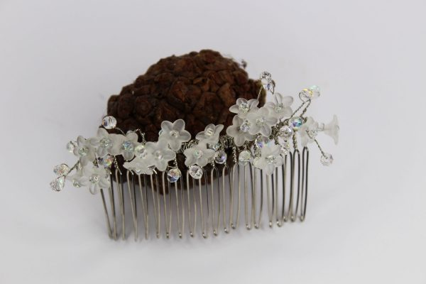 Nova Hair Comb, wedding design, Saraden Designs Millinery, handmade Irish designer
