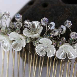 Genevieve Hair Comb, wedding design, Saraden Designs Millinery, handmade Irish designer