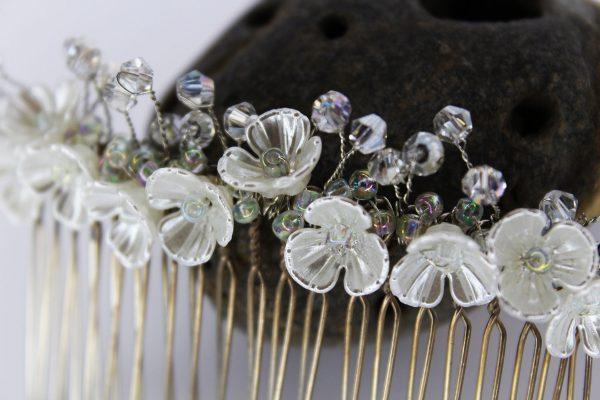 Genevieve Hair Comb, wedding design, Saraden Designs Millinery, handmade Irish designer