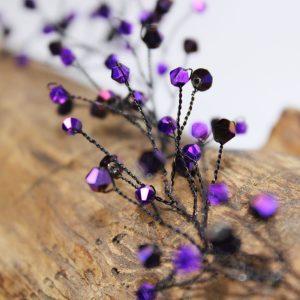 Hair vine, Magenta, wedding design, Saraden Designs Millinery, handmade Irish designer