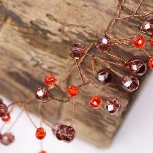 Rose Hair Vine, wedding design, Saraden Designs Millinery, handmade Irish designer