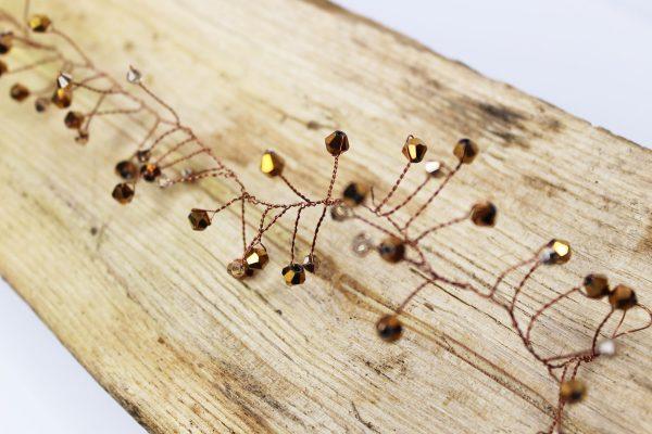 Hair vine, Oak, wedding design, Saraden Designs Millinery, handmade Irish designer
