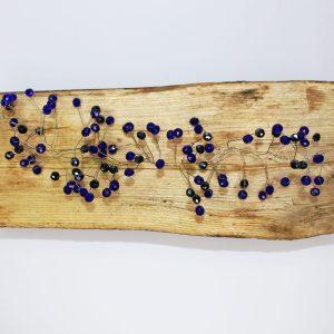 Sapphire Hair Vine, wedding design, Saraden Designs Millinery, handmade Irish designer