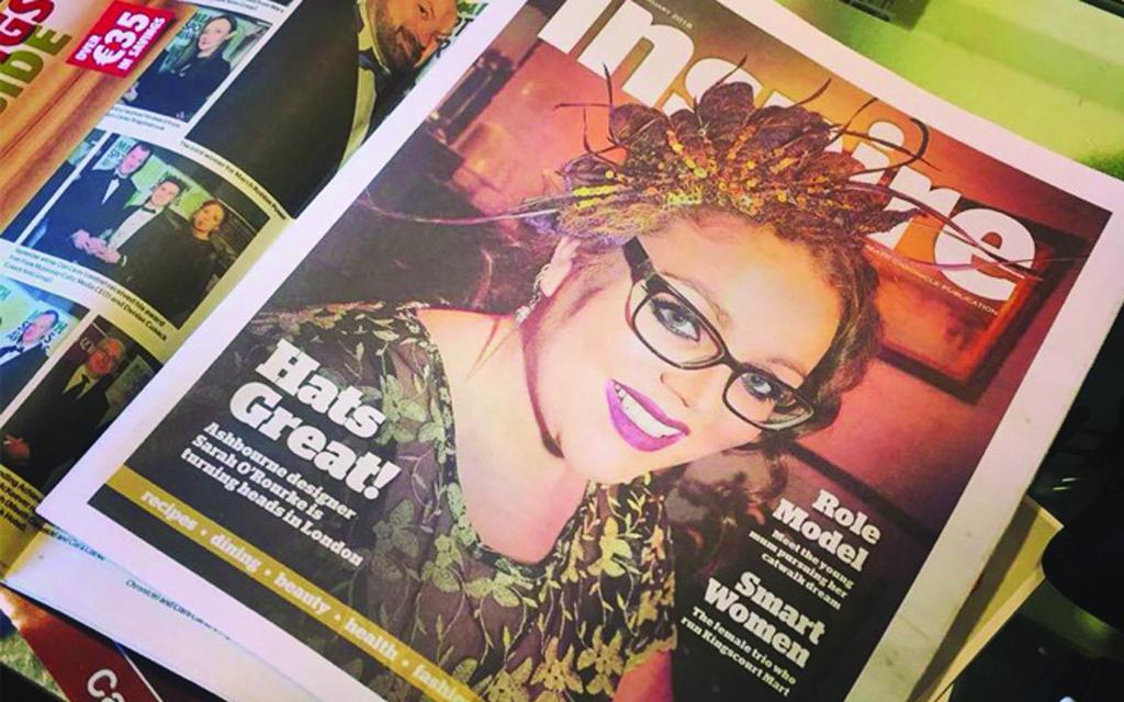 The Meath chronicle, interview, lifestyle magazine, Saraden Design, Irish Milliner, Sarah O' Rourke, newspaper, Irish press