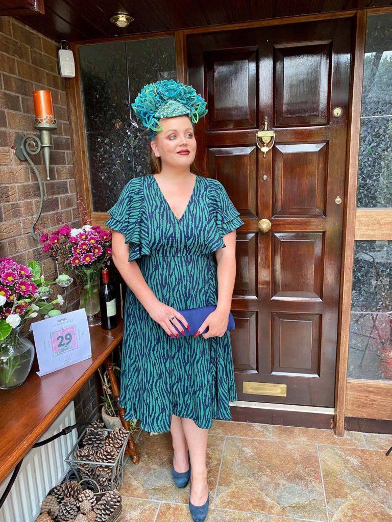 VIP Magazine Ladies Dy - Sarah O' Rourke wearing Irish Designer Saraden Designs Millinery Atelier