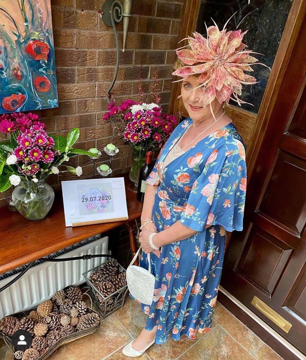 VIP Magazine Ladies Dy - Margaret O' Rourke wearing Irish Designer Saraden Designs Millinery Atelier