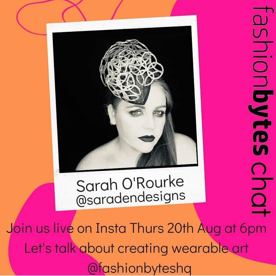 Fashion Bytes Interview with Hilary McCrea and Sarah O' Rourke from Saraden Designs Millinery