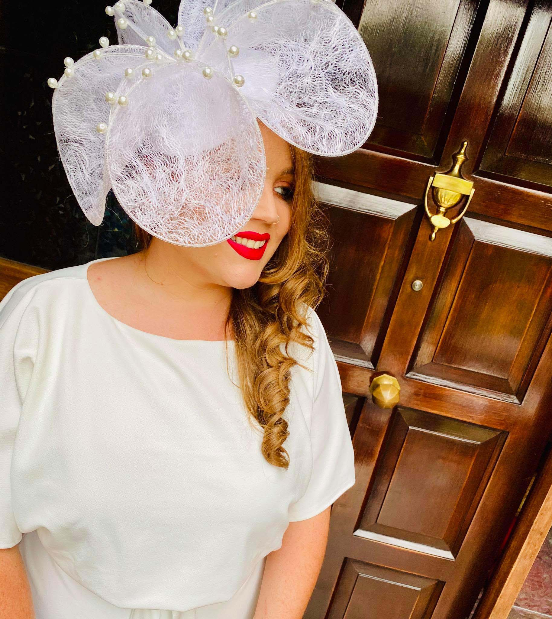 The Kentucky Derby Virtual Ladies Day Competition 2020 - Sarah O' Rourke wearing Saraden Designs Millinery