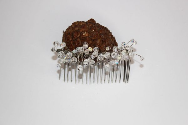 Marigold Hair Comb, wedding design, Saraden Designs Millinery, handmade Irish designer