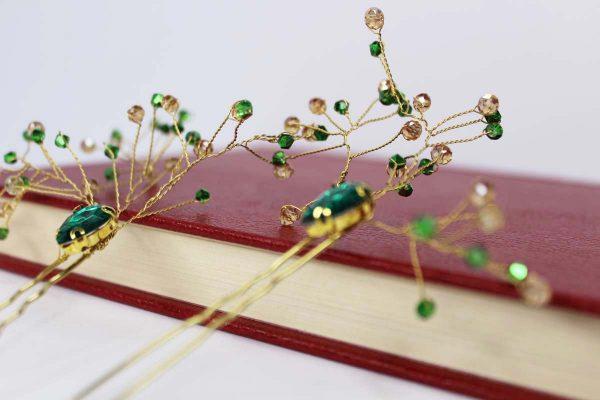 The Haisley Hair Pins, wedding design, Saraden Designs Millinery, handmade Irish designer