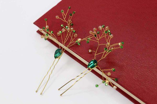 Haisley Hair Pins, wedding design, Saraden Designs Millinery, handmade Irish designer