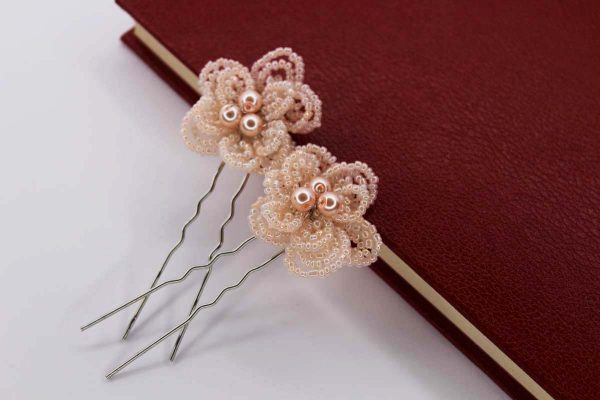 Ivy Hair Pins, wedding design, Saraden Designs Millinery, handmade Irish designer