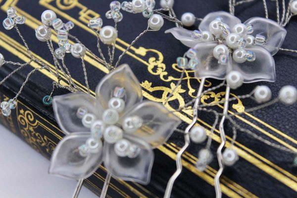 Ezra Hair Pins, wedding design, Saraden Designs Millinery, handmade Irish designer