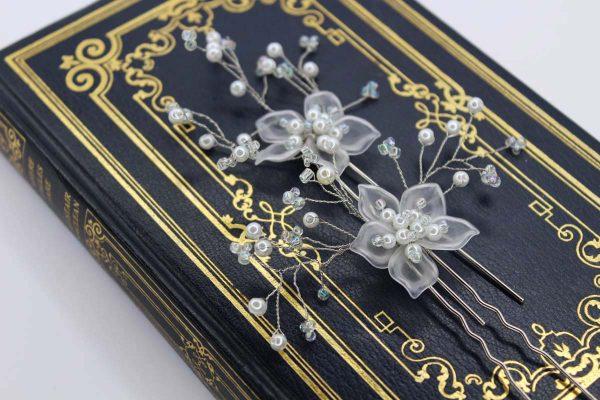 The Ezra Hair Pins, wedding design, Saraden Designs Millinery, handmade Irish designer