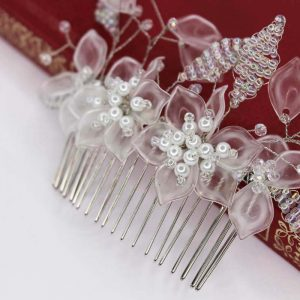 Anais Hair Comb, wedding design, Saraden Designs Millinery, handmade Irish designer