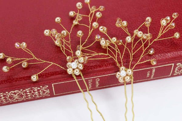 Bailey Hair Pins, wedding design, Saraden Designs Millinery, handmade Irish designer