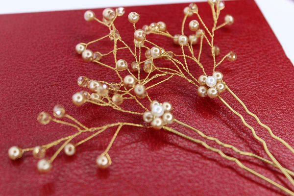They Bailey Hair Pins, wedding design, Saraden Designs Millinery, handmade Irish designer