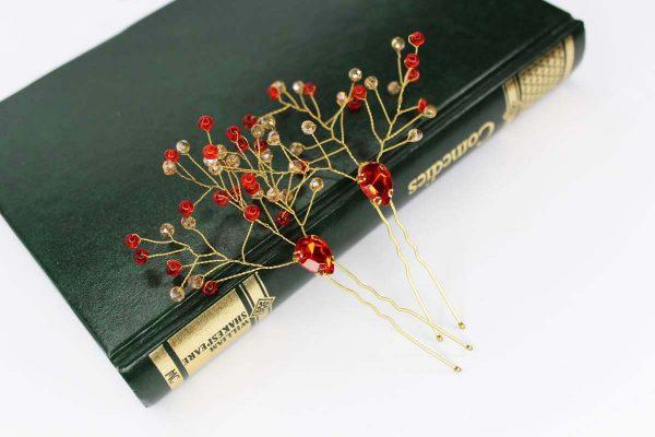 The Aria Hair Pins, wedding design, Saraden Designs Millinery, handmade Irish designer