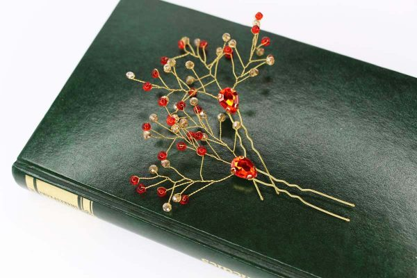 Aria Hair Pins, wedding design, Saraden Designs Millinery, handmade Irish designer