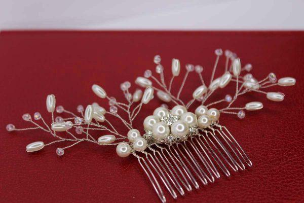 Sariah Hair Comb, wedding design, Saraden Designs Millinery, handmade Irish designer