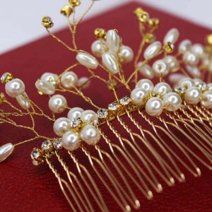 The Renee Hair Comb, wedding design, Saraden Designs Millinery, handmade Irish designer
