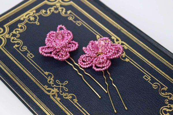The Orchid Hair Pins, wedding design, Saraden Designs Millinery, handmade Irish designer