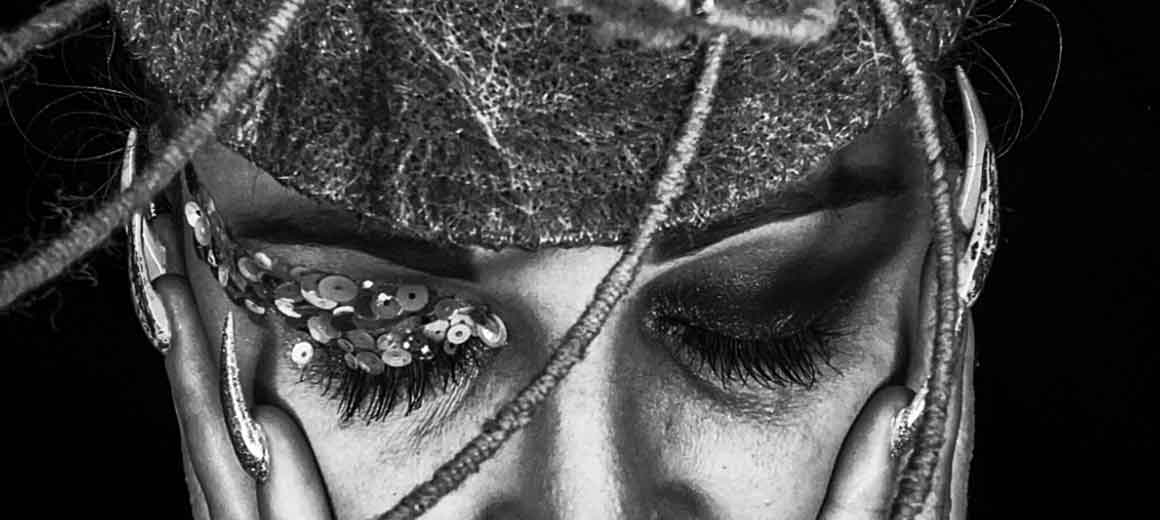 The Warriors Withing Collective - Self Portrait series featuring Sarah O' Rourke wearing Saraden Designs Millinery Pieces
