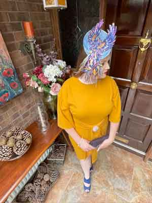 Curragh Ladies Day 2021 Virtual Style Event   Sarah O' Rourke Wearing Saraden Designs Millinery Atelier