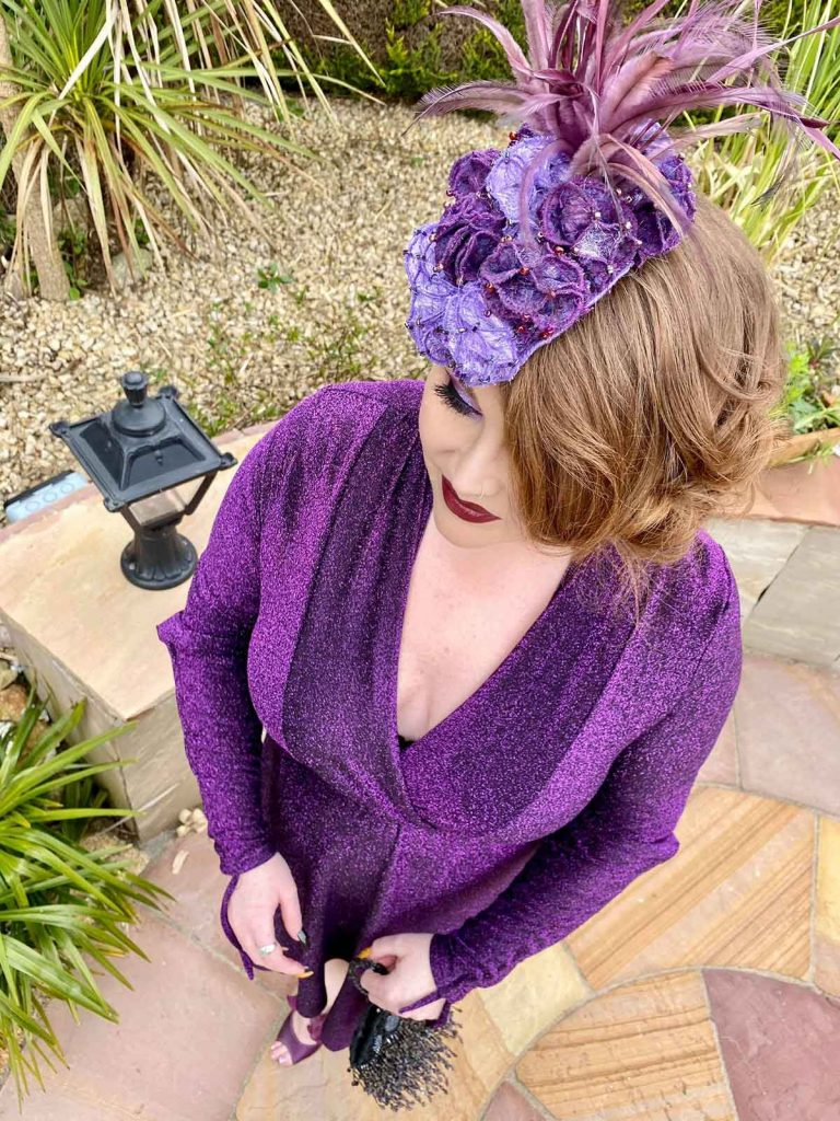 Millinery Collective Virtual Ladies Sarah O' Rourke wearing Saraden Designs Millinery Atelier