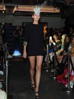 Model wear Saraden Design Millinery from the Celtic Love Knot Collection at London Fashion Week