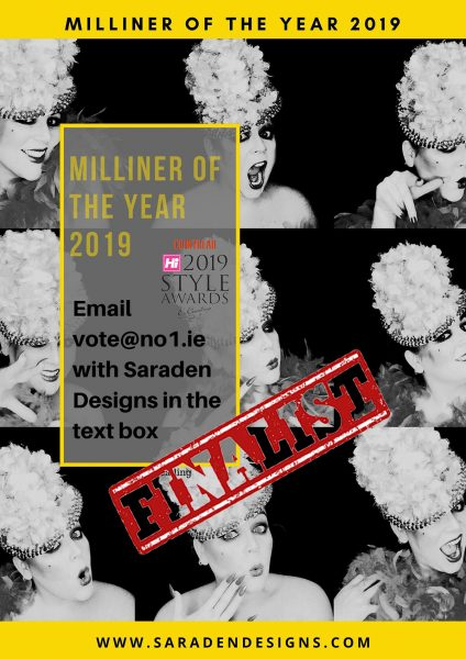 Saraden Designs - Hi Style Awards - Milliner of the Year Finalist 2019