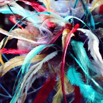 Saraden Designs | Irish Milliner | Handmade Fabric | London Hat Week | Emu Feathers