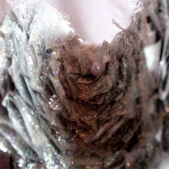 Saraden Designs | Irish Milliner | Handmade Fabric | Pearl | Silver