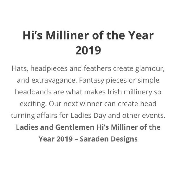 Hi's Milliner of the Year 2019